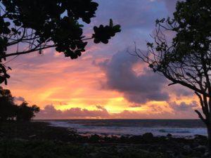 コーロンサレム島の夕日